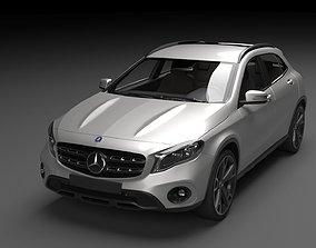 3D model Mercedes Benz GLA AMG 2018