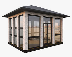 Glass Alcove Gazebo 3D model