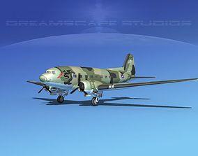 3D Douglas C-47 Dakota USAF V05