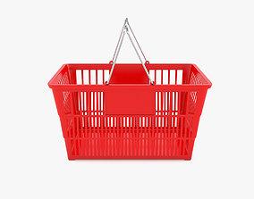 3D model Supermarket Hand Baskets with Chrome Handles
