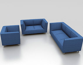 3D Sofa Set One Two and Three Seater