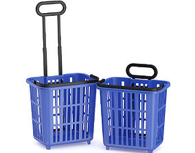 Two Shopping Baskets 3D