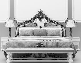 3D luxury classic bed