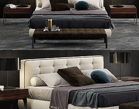 Minotti Bedford Cover Bed 3D model