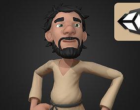 3D asset rigged Medieval Cartoon Peasant