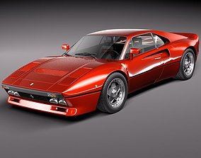 retro 3D model Ferrari 288 GTO 1984-1987