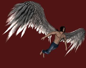 Realistic Angel Feather Wings 3D asset