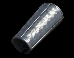 A steel oxidised bracer 3D asset