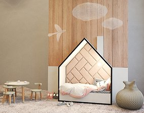 3D Bed and table for children
