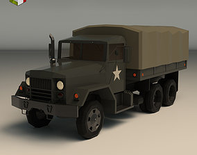 3D model Low Poly Military Truck 02