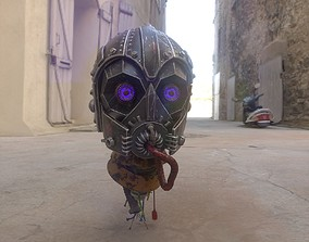 robot Head 3D model PBR