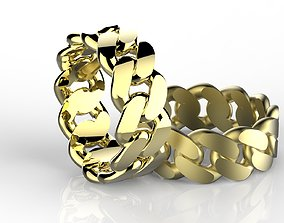 3D printable model Cuban Chain Ring