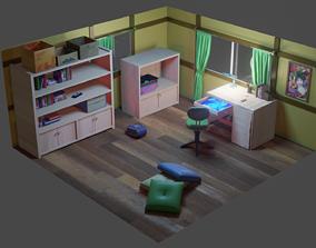 3D asset realtime Nobita room