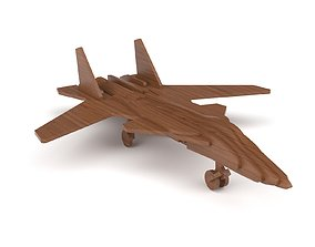 3D Wooden toy airplane 08