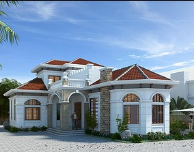 animated House design 3d model mansion