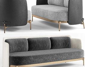 Minotti Tape two sofa 3d model