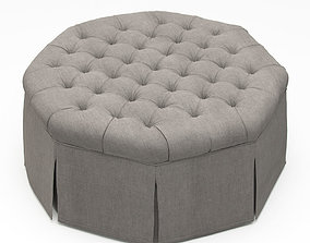 3D French Tufted Ottoman