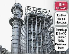 3D asset Gas Turbine Plant - Full Set
