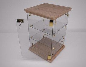 Display Case with Locker key 3D model