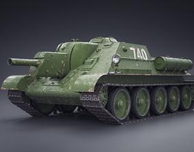 Tank su-122 3D asset