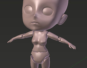 Base Manga Character for 3d Printing