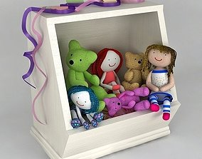 3D model Box for toys Toys in a Box