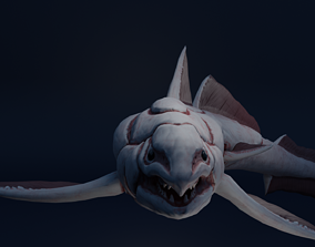 3D model low-poly monster fish