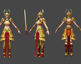 3D asset General woman model female general