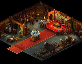 3D Religion-Buddhism-Dahonglu Temple-Indoor