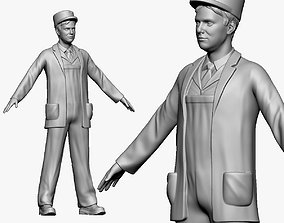 3D 001137 postman in old style