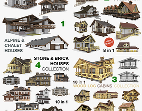 3D model Residential Houses Collection 32