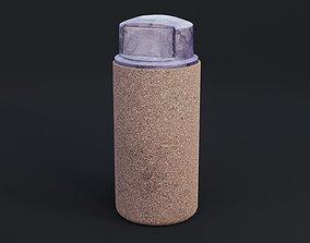 3D model realtime PBR Garbage Bin