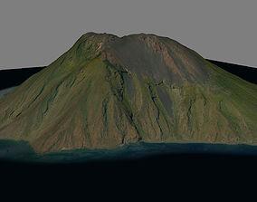 Stromboli Vulcan Island 3D model