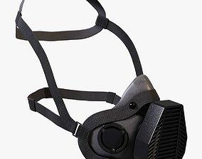 3D model Gas mask half