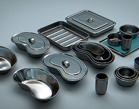Bowls and Trays - Vessels Stainless Steel 3D asset