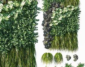 Vertical garden Green wall 07 3D model