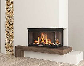 furniture 3D Fireplace and Firewood 2