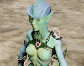 Mermaid-monster 3D asset