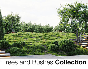 grass Trees And Bushes Collection 3D