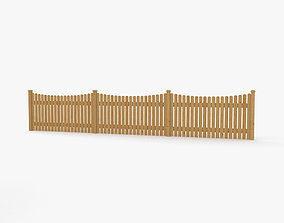 Wooden Fence building 3D