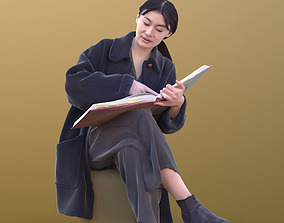 Francine 10364 - Sitting Casual Woman 3D asset