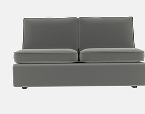 Attractive Armless Sofa With Halsey 3D model