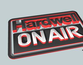 Hardwell On Air logo 3D animated