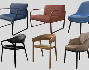 3D model Collection of Archviz Chairs PRB