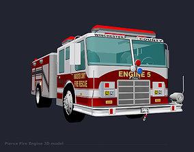 3D model Pierce Fire Engine