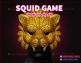 Squid Game Lion Vip Mask for 3D print model
