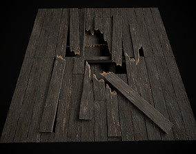 3D model Old Wooden Floor set