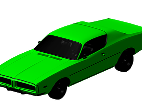 3D Dodge Charger 1972