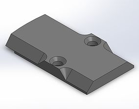 3D print model RMR Glock Slide Plate