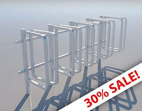 Bicycle Rack - Low Poly 3D model